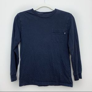 Vineyard Vines Blue Pocket Long Sleeve T-shirt Sm